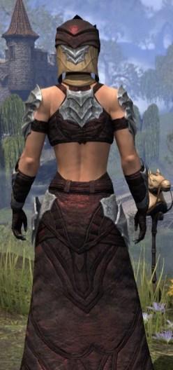 Waking Flame Ancestor Silk - Female Robe Close Rear