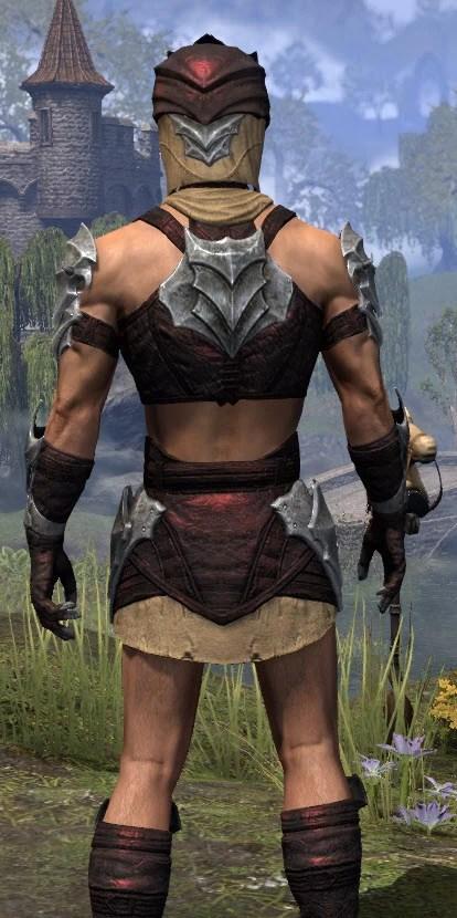 Waking Flame Ancestor Silk - Male Shirt Close Rear