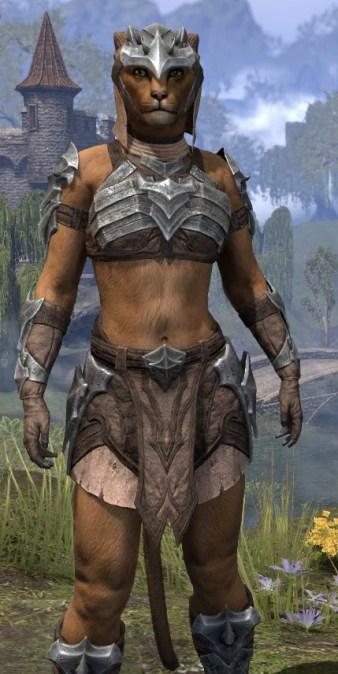 Waking Flame Homespun - Khajiit Female Shirt Close Front