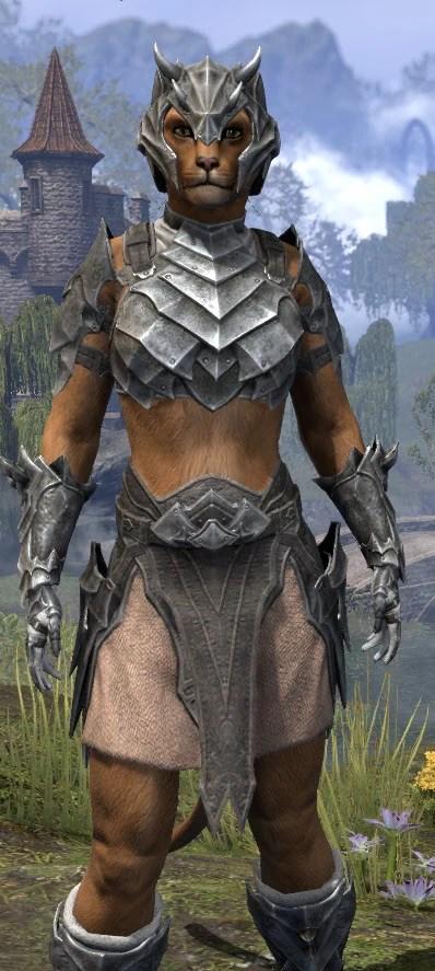 Waking Flame Iron - Khajiit Female Close Front