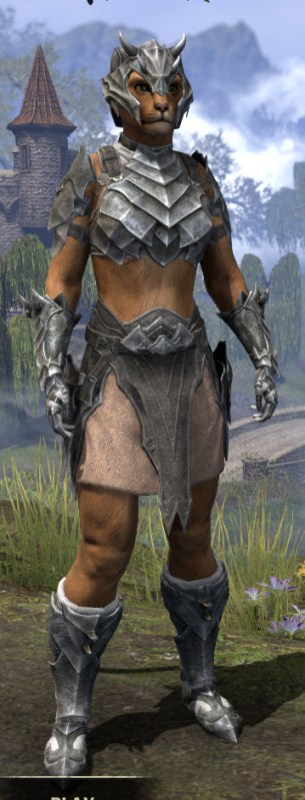 Waking Flame Iron - Khajiit Female Front