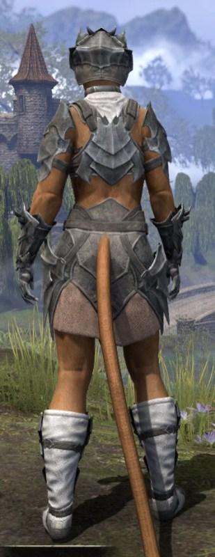 Waking Flame Iron - Khajiit Female Rear
