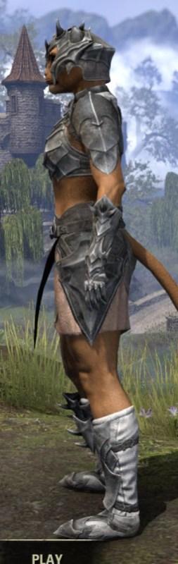 Waking Flame Iron - Khajiit Female Side