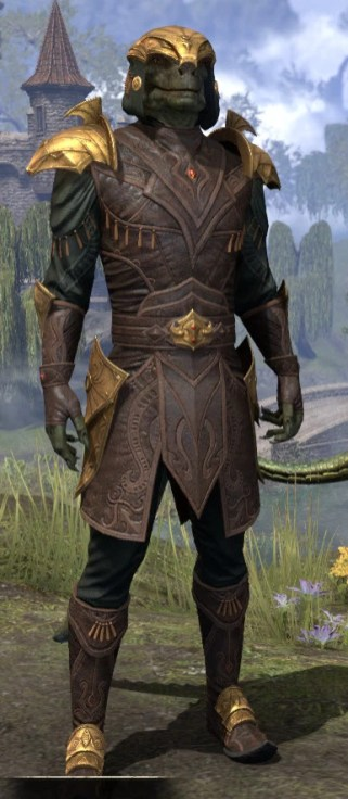 Crested Viper - Argonian Male Front