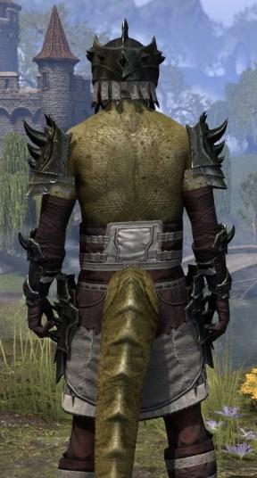 Crimson Oath Heavy - Argonian Male Close Rear