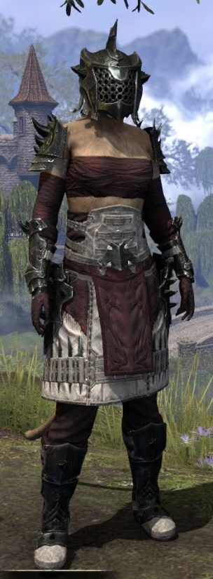 Crimson Oath Heavy - Khajiit Female Front