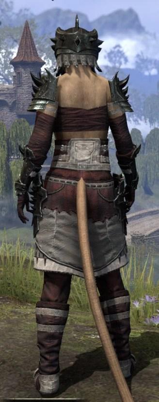 Crimson Oath Heavy - Khajiit Female Rear