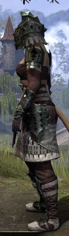 Crimson Oath Heavy - Khajiit Female Side