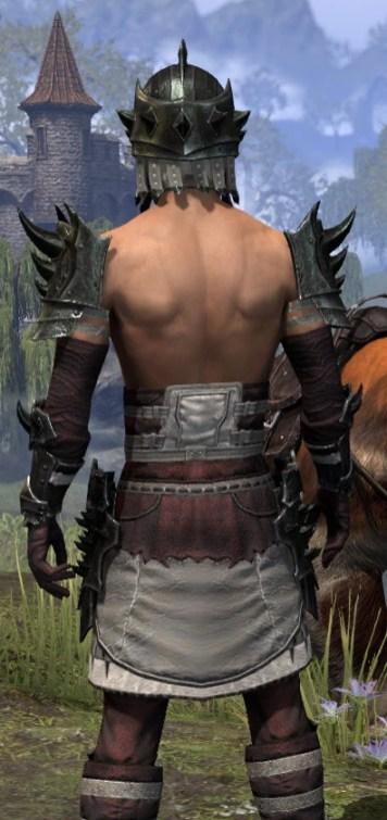 Crimson Oath Heavy - Male Close Rear