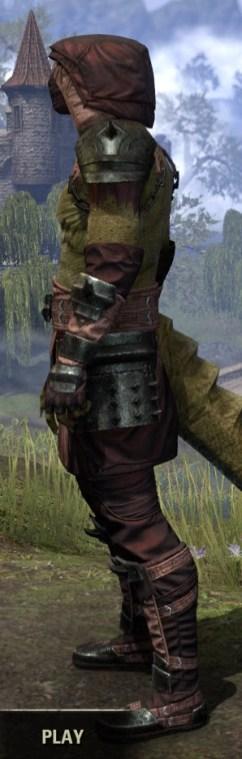 Crimson Oath Light - Argonian Male Shirt Side
