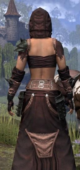 Crimson Oath Light - Female Robe Close Rear