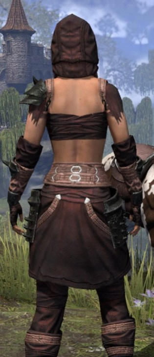 Crimson Oath Light - Female Shirt Close Rear