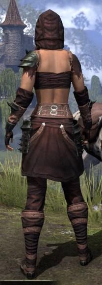 Crimson Oath Light - Female Shirt Rear