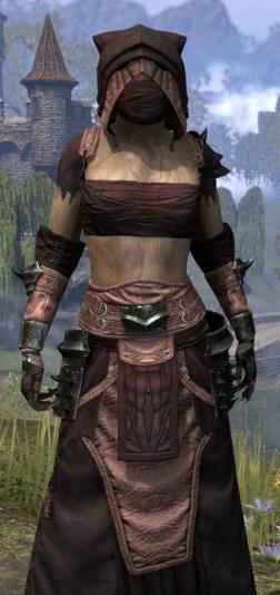 Crimson Oath Light - Khajiit Female Robe Close Front