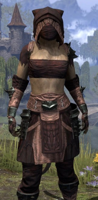 Crimson Oath Light - Khajiit Female Shirt Close Front