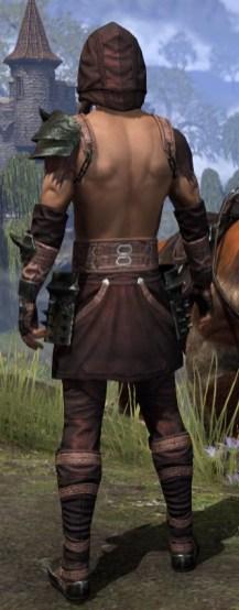 Crimson Oath Light - Male Shirt Rear
