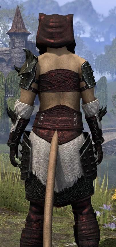 Crimson Oath Medium - Khajiit Female Close Rear