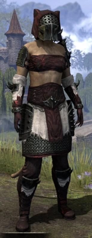 Crimson Oath Medium - Khajiit Female Front