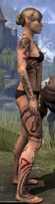Shattered Chivalry Body Tattoo - Female Right