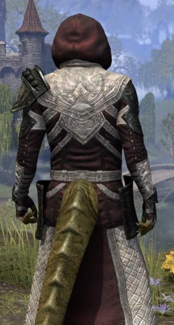 Silver Rose Light - Argonian Male Robe Close Rear