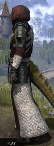 Silver Rose Light - Argonian Male Robe Side