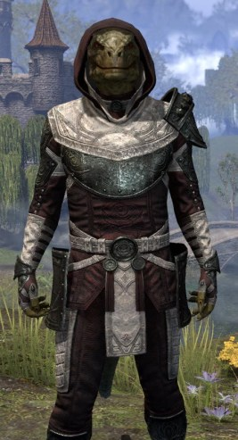 Silver Rose Light - Argonian Male Shirt Close Front