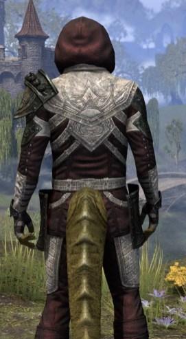 Silver Rose Light - Argonian Male Shirt Close Rear