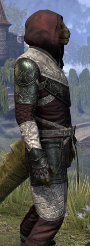 Silver Rose Light - Argonian Male Shirt Close Side