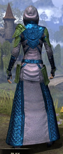 Silver Rose Light - Dyed Robe Rear