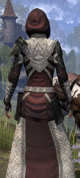 Silver Rose Light - Female Robe Close Rear