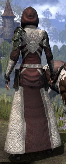 Silver Rose Light - Female Robe Rear