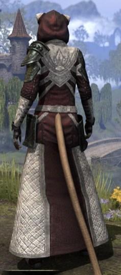 Silver Rose Light - Khajiit Female Robe Rear
