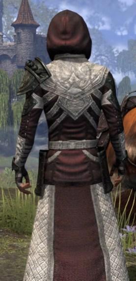 Silver Rose Light - Male Robe Close Rear