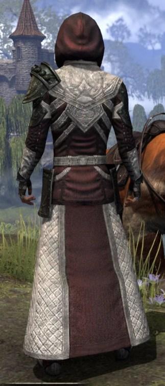 Silver Rose Light - Male Robe Rear