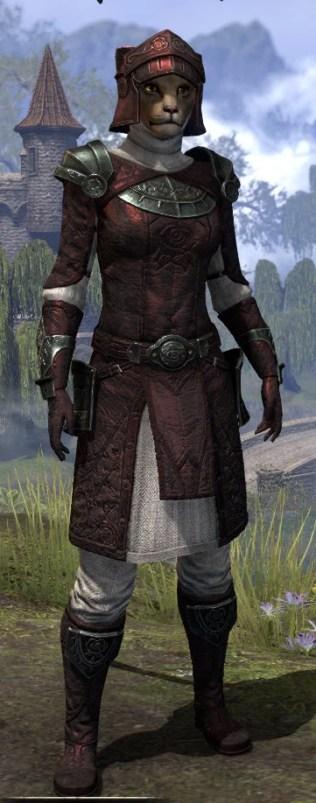 Silver Rose Medium - Khajiit Female Front