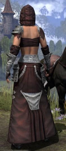 Crimson Oath Ancestor Silk - Female Robe Rear