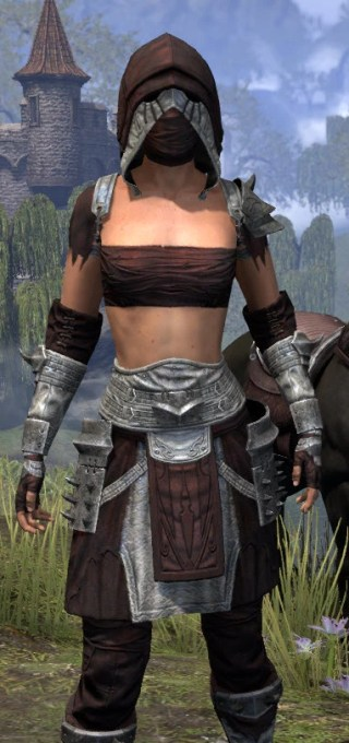 Crimson Oath Ancestor Silk - Female Shirt Close Front