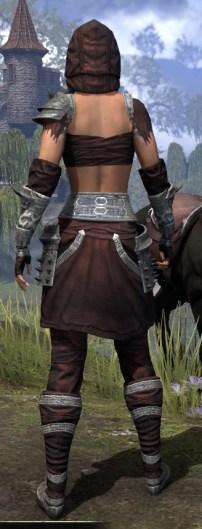 Crimson Oath Ancestor Silk - Female Shirt Rear