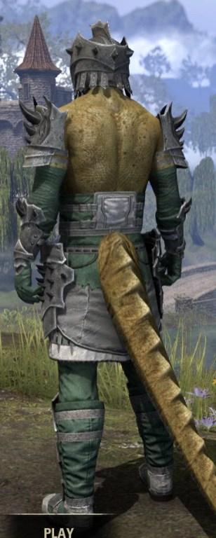 Crimson Oath Iron - Argonian Male Rear