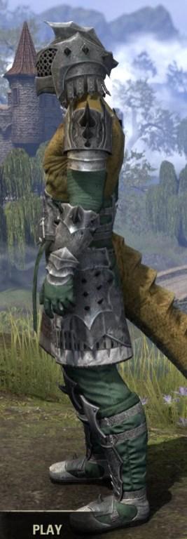 Crimson Oath Iron - Argonian Male Side