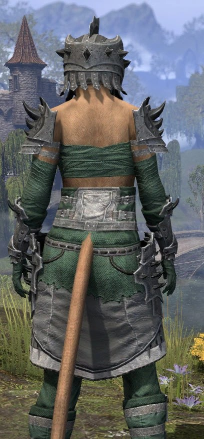 Crimson Oath Iron - Khajiit Female Close Rear