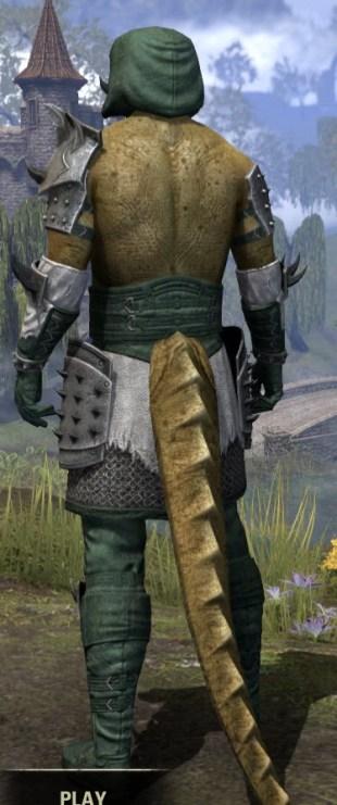Crimson Oath Rawhide - Argonian Male Rear