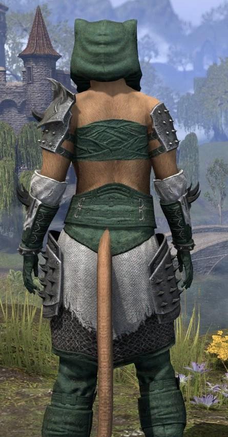 Crimson Oath Rawhide - Khajiit Female Close Rear