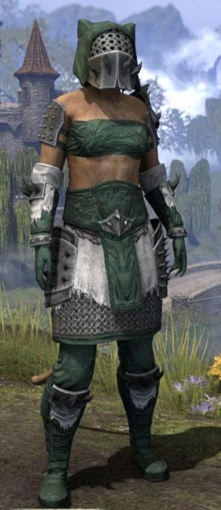 Crimson Oath Rawhide - Khajiit Female Front