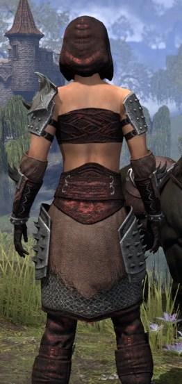Crimson Oath Rubedo Leather - Female Close Rear