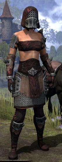 Crimson Oath Rubedo Leather - Female Front