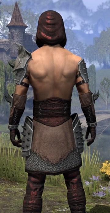 Crimson Oath Rubedo Leather - Male Close Rear
