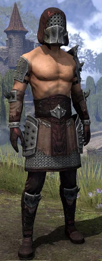 Crimson Oath Rubedo Leather - Male Front