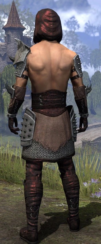 Crimson Oath Rubedo Leather - Male Rear