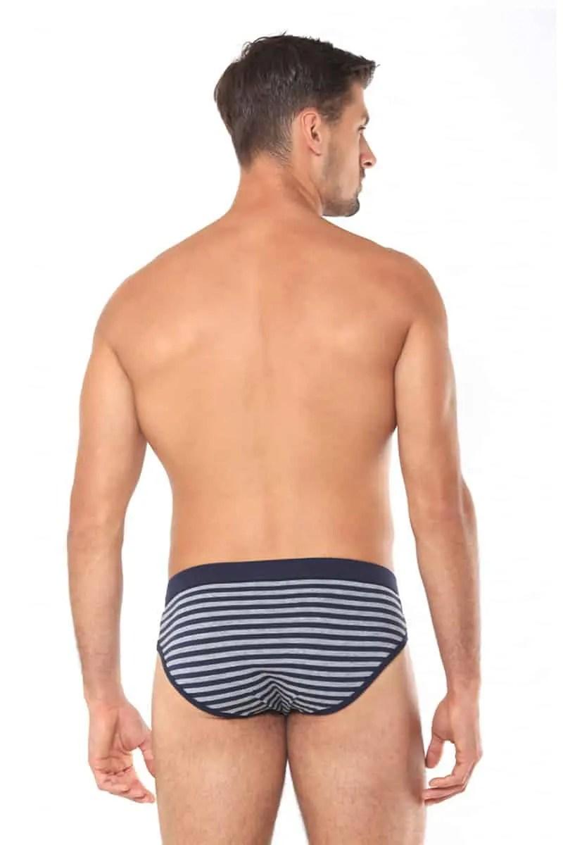 Men's Slip Adamo Blue With Stripes -